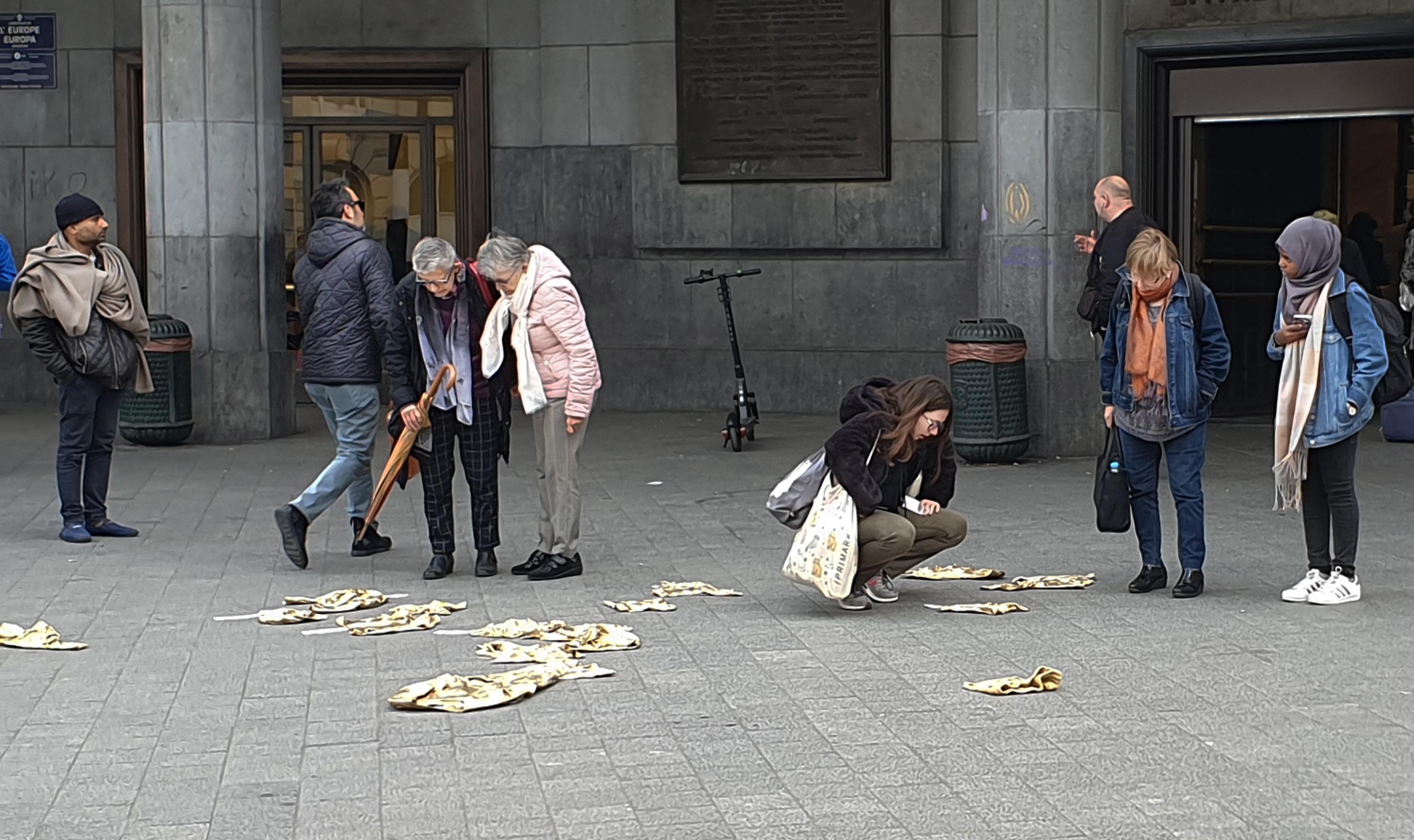 Artistieke interventie over de rechten van vluchtelingenkinderen