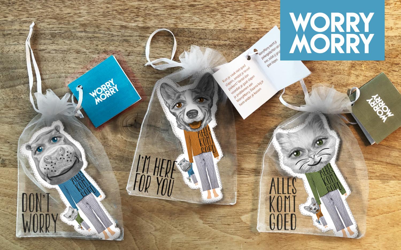 WorryMorry poppetjes geproduceerd door ANBI status organisatie Power of Art House